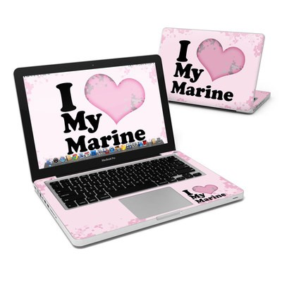 MacBook Pro 13in Skin - I Love My Marine