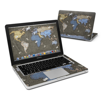 MacBook Pro 13in Skin - Jean Map