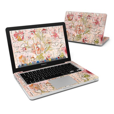 MacBook Pro 13in Skin - Love Floral