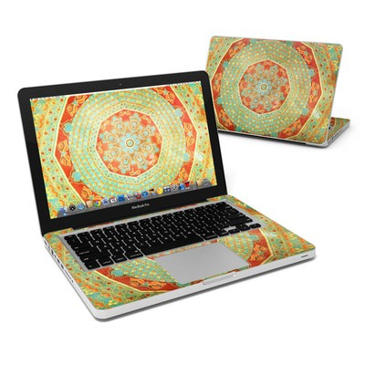 MacBook Pro 13in Skin - Mandala Citrus