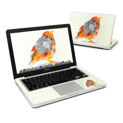 MacBook Pro 13in Skin - Orange Bird