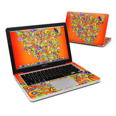 MacBook Pro 13in Skin - Orange Squirt