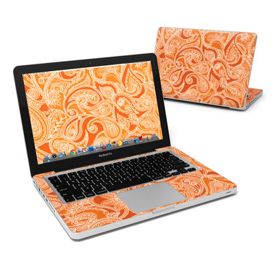MacBook Pro 13in Skin - Paisley In Orange