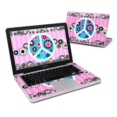 MacBook Pro 13in Skin - Peace Flowers Pink