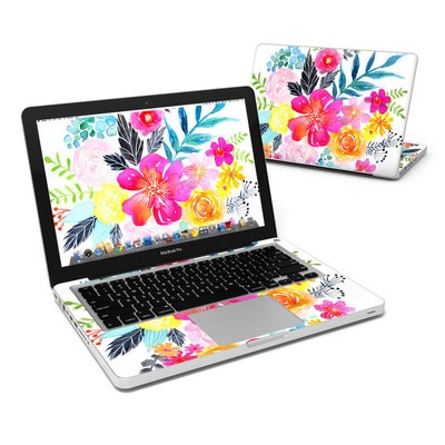MacBook Pro 13in Skin - Pink Bouquet