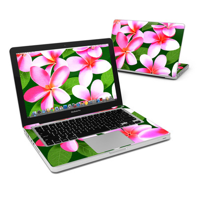 MacBook Pro 13in Skin - Pink Plumerias