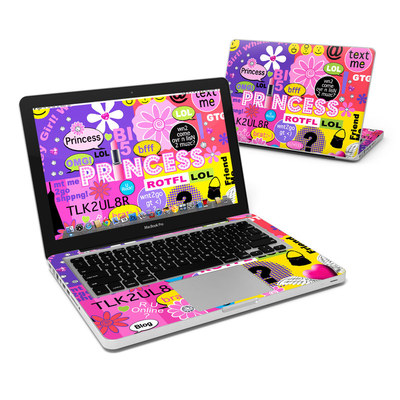 MacBook Pro 13in Skin - Princess Text Me