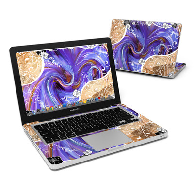 MacBook Pro 13in Skin - Purple Waves