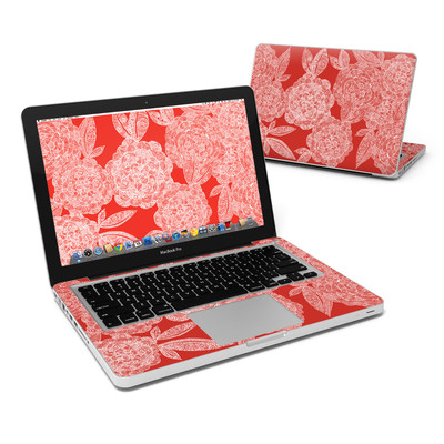 MacBook Pro 13in Skin - Red Dahlias