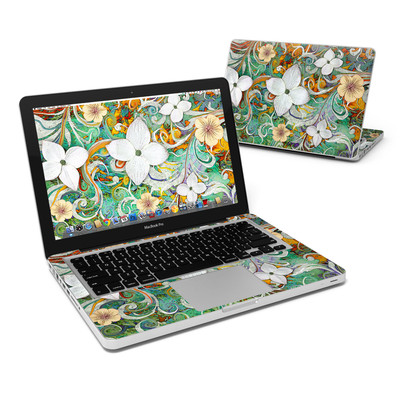 MacBook Pro 13in Skin - Sangria Flora
