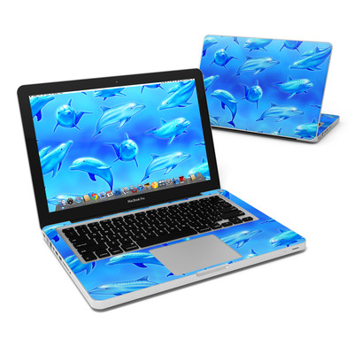 MacBook Pro 13in Skin - Swimming Dolphins