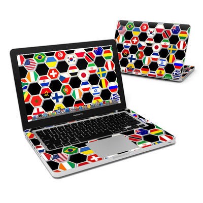 MacBook Pro 13in Skin - Soccer Flags