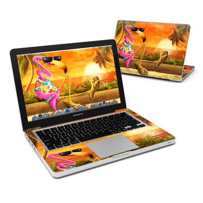 MacBook Pro 13in Skin - Sunset Flamingo