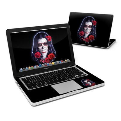 MacBook Pro 13in Skin - Sugar Skull Rose