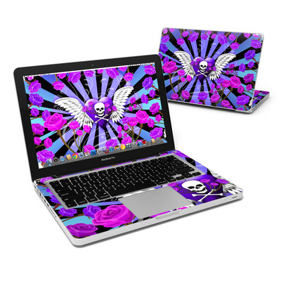 MacBook Pro 13in Skin - Skull & Roses Purple
