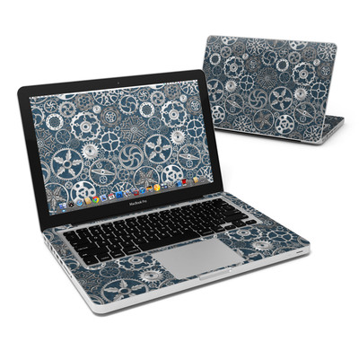 MacBook Pro 13in Skin - Silver Gears