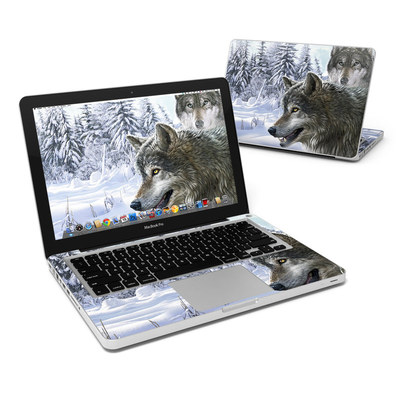 MacBook Pro 13in Skin - Snow Wolves