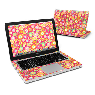 MacBook Pro 13in Skin - Flowers Squished