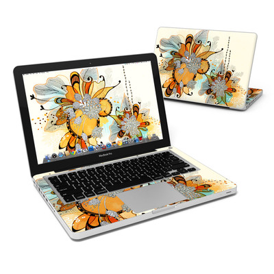 MacBook Pro 13in Skin - Sunset Flowers