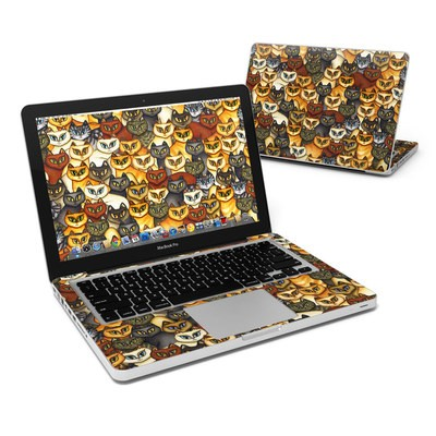 MacBook Pro 13in Skin - Stacked Cats