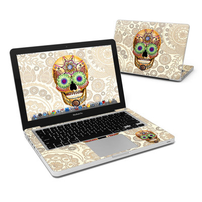 MacBook Pro 13in Skin - Sugar Skull Bone