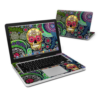 MacBook Pro 13in Skin - Sugar Skull Paisley