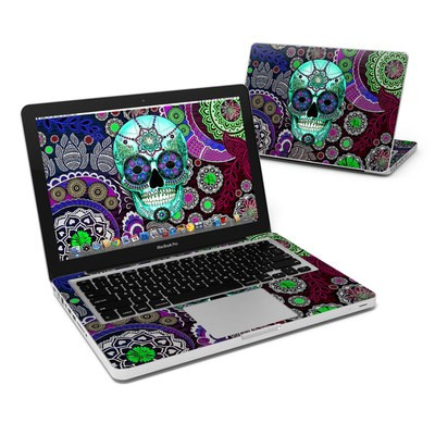 MacBook Pro 13in Skin - Sugar Skull Sombrero