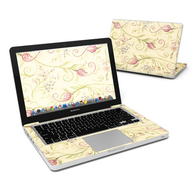 MacBook Pro 13in Skin - Tulip Scroll