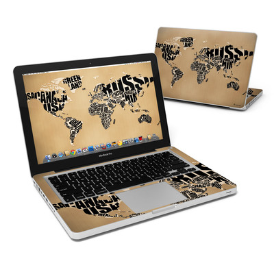 MacBook Pro 13in Skin - Type Map