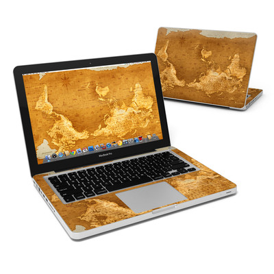 MacBook Pro 13in Skin - Upside Down Map