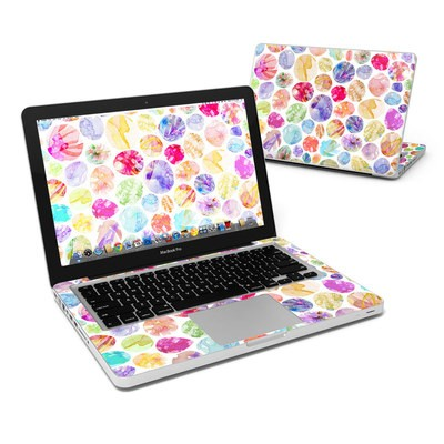 MacBook Pro 13in Skin - Watercolor Dots