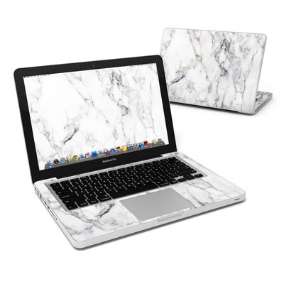 MacBook Pro 13in Skin - White Marble