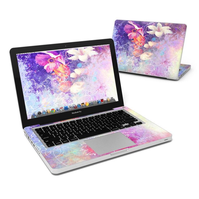 MacBook Pro 13in Skin - Sketch Flowers Lily
