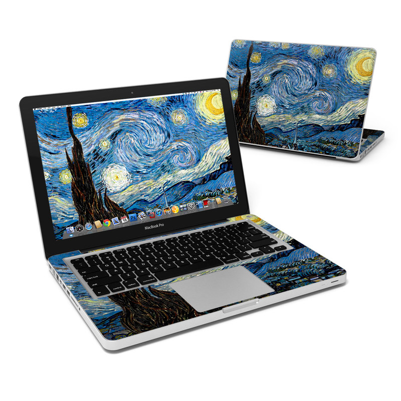 reputable site ca576 9461a MacBook Pro 13in Skin - Starry Night