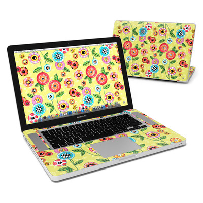 MacBook Pro 15in Skin - Button Flowers