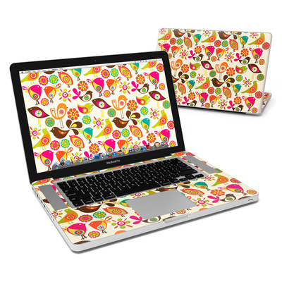MacBook Pro 15in Skin - Bird Flowers