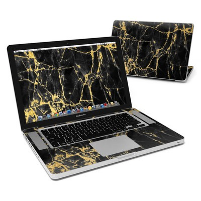 MacBook Pro 15in Skin - Black Gold Marble