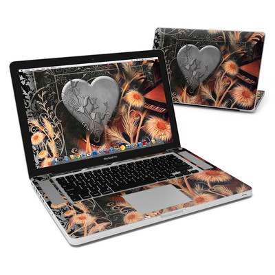 MacBook Pro 15in Skin - Black Lace Flower