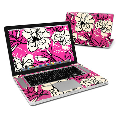 MacBook Pro 15in Skin - Black Lily