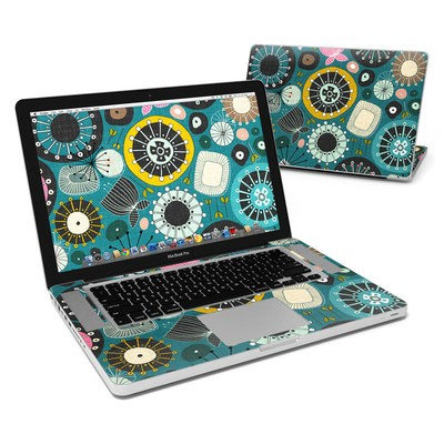 MacBook Pro 15in Skin - Blooms Teal