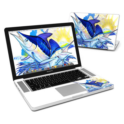 MacBook Pro 15in Skin - Blue White and Yellow