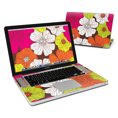 MacBook Pro 15in Skin - Brown Flowers