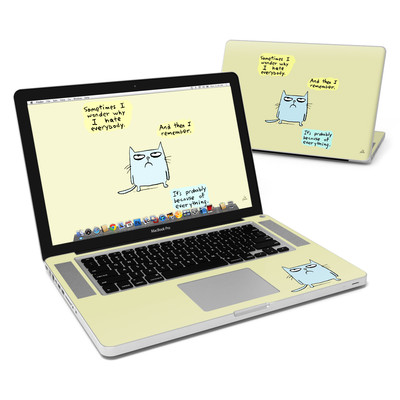 MacBook Pro 15in Skin - Catwad Hate