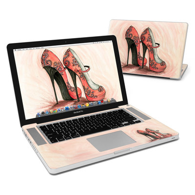 MacBook Pro 15in Skin - Coral Shoes