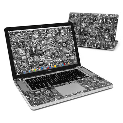 MacBook Pro 15in Skin - Distraction Tactic B&W
