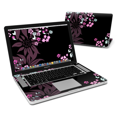 MacBook Pro 15in Skin - Dark Flowers