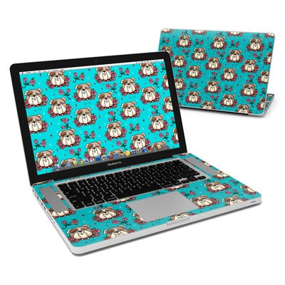 MacBook Pro 15in Skin - Bulldogs and Roses