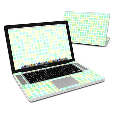 MacBook Pro 15in Skin - Big Dots Mint