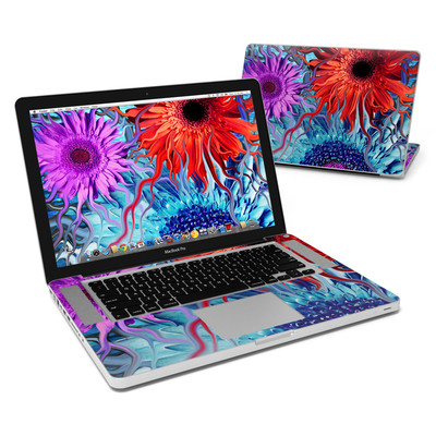 MacBook Pro 15in Skin - Deep Water Daisy Dance