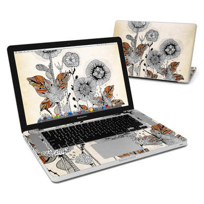 MacBook Pro 15in Skin - Four Flowers